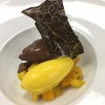 Crèmeux au chocolat santarem mangue menthe